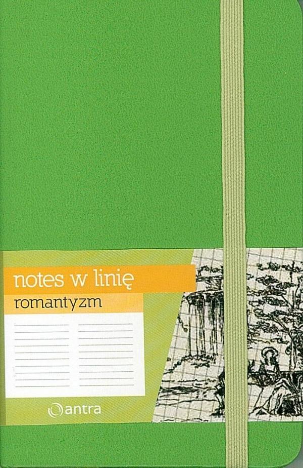 Notes A6 Linia Romantyzm Zielony