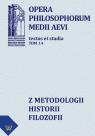 Z metodologii historii filozofii