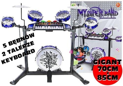 Duży zestaw perkusja + keyboard 70cm X 85cm