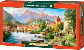 Puzzle 4000 Copy of Town in The Mountains Shadow .