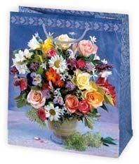 Torba ozdobna z motywem kwiatowym pakiet 10 szt mix T4 OG 43