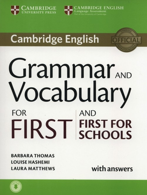 Grammar and Vocabulary for First and First for Schools Thomas Barbara, Hashemi Louise, Matthews Laura