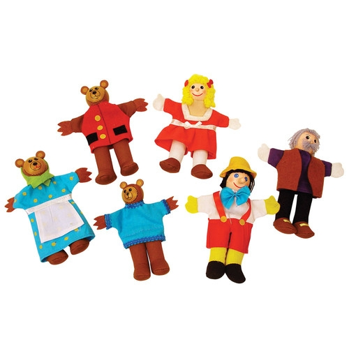 Pacynki Złotowłosa i Trzy Niedźwiadki Pinokio