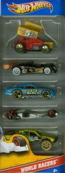 Hot Wheels World racers pięciopak (1806)mix wzorów