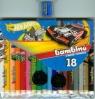 Kredki bambino drewniane 18 kolorów z nadrukiem z temperówką Hot Wheels
