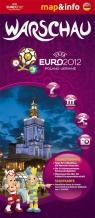 Warschau Warszawa Euro 2012 mapa i miniprzewodnik
