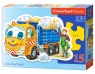 Puzzle konturowe Little Sand Truck 15 elementów (015061)