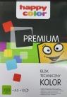 Blok techniczny kolorowy A3 10 kartek premium