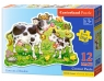 Puzzle maxi konturowe: Cows on a Meadow 12 elementów (120062)