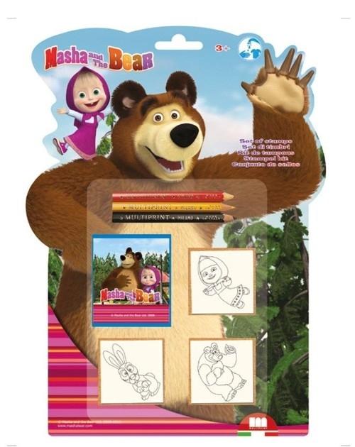 Pieczątki Shaped 3 Masza i niedźwiedź