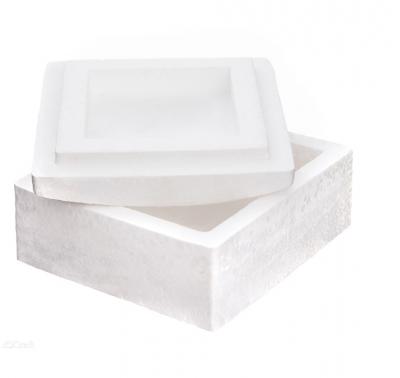 Pudełko kwadratowe styropianowe 13,5 x13,5cm 3szt .