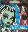 Kredki Monster High świecowe 12 kolorów