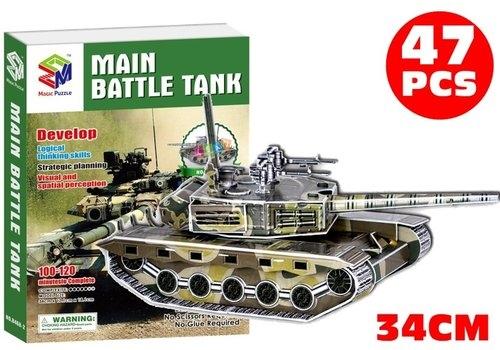 Puzzle 3D Main Battle Tank Czołg wojskowy 47 elementów