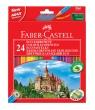 Kredki Faber-Castell Zamek 24 kolory + temperówka (FC120124)