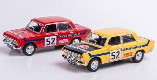 Kolekcja PRL-u Fiat 125P - Rajdowe, 2 kolory