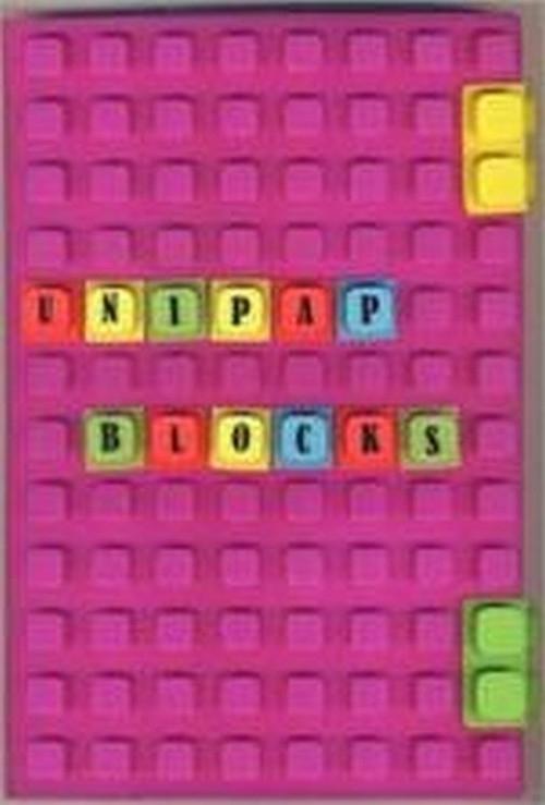Notes silikonowy A5 Unipap Blocks w kratkę 100 kartek fioletowy