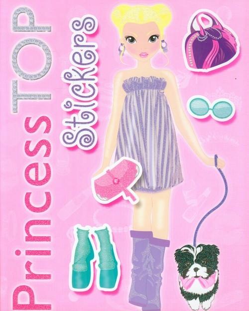 Princess Top Stickers Kolorowanka z naklejkami