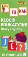 Klocki edukacyjnelitery i sylaby 18 elementów (7066)