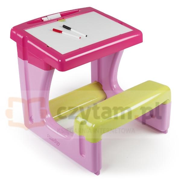 SMOBY Stolik z tablicą różowy (7600028006)