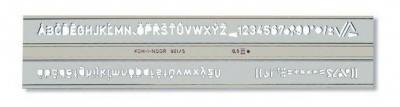 Szablon Koh-I-Noor cyfrowo-literowy 5,0 mm (748006) .