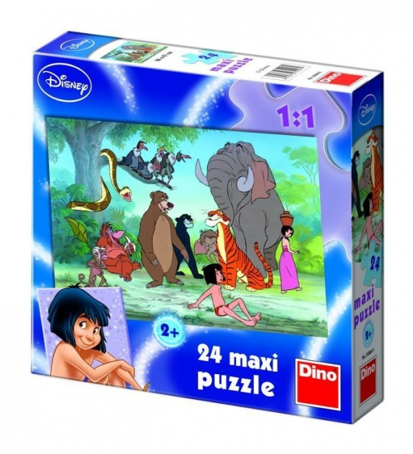 Puzzle Dino 24 maxi Jungle Book (350069)