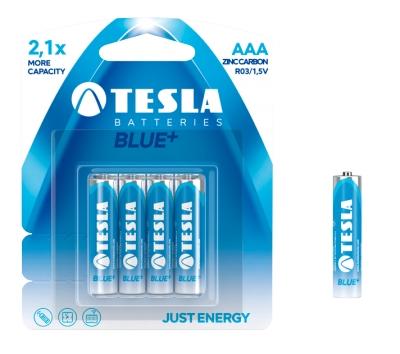 Bateria Tesla AAA Blue+ R03 4 sztuki na blistrze .