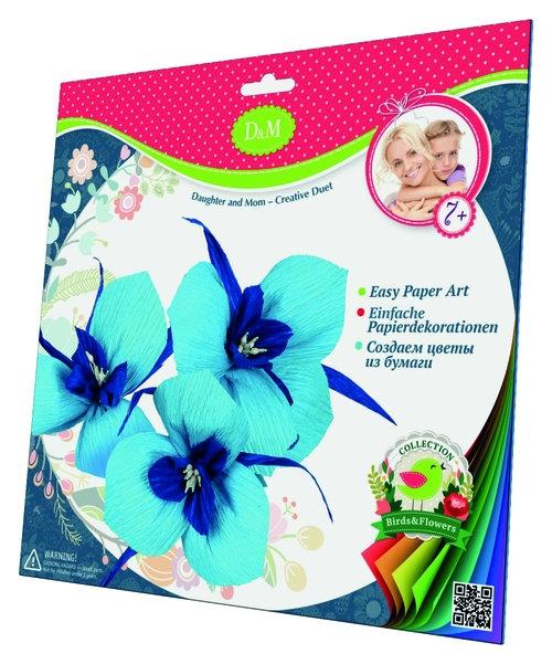 Wykonaj kwiaty z krepiny irysy