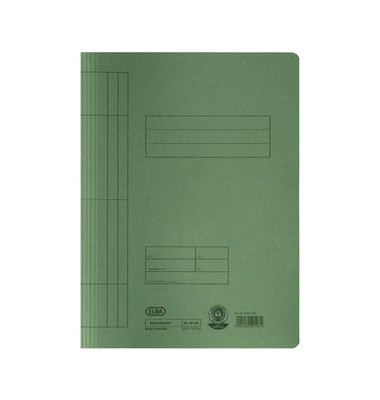 Skoroszyt kartonowy Elba A4 250g.zielony(100090781)