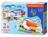 Puzzle konturowe 2w1 Airport Adventures (020072)