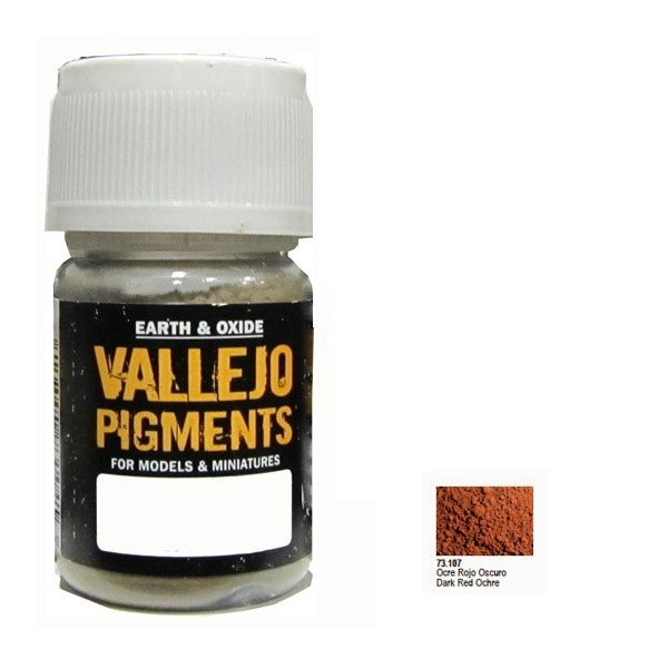 VALLEJO Pigment Dark Red Ocre (73107)
