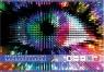 Papier kolorowy samoprzylepny holograficzny - zeszyt B5, 8 kartek mix