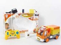 Auto na radio 26 cm. śmieciarka z ładowarką