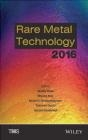 Rare Metal Technology 2016 TMS, Shafiq Alam