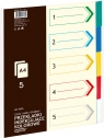 Przekładki indeksujące A4 Grand GR-P005 5 sztuk