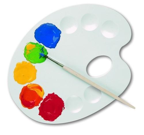 Plastikowa paletka do mieszania farb średnia