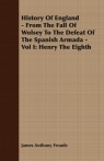 History Of England - From The Fall Of Wolsey To The Defeat Of The Spanish Armada - Vol I