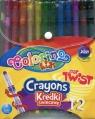 Kredki świecowe wykręcane Colorino 12 kolorów