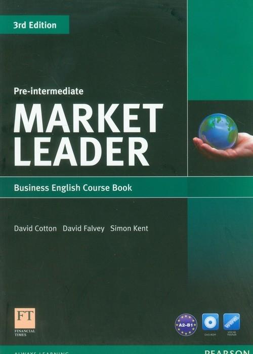 Market Leader Pre-Intermediate Business English Course Book with DVD-ROM (Uszkodzona okładka) Cotton David, Falvey David, Kent Simon