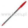 Długopis crystal czerwony .