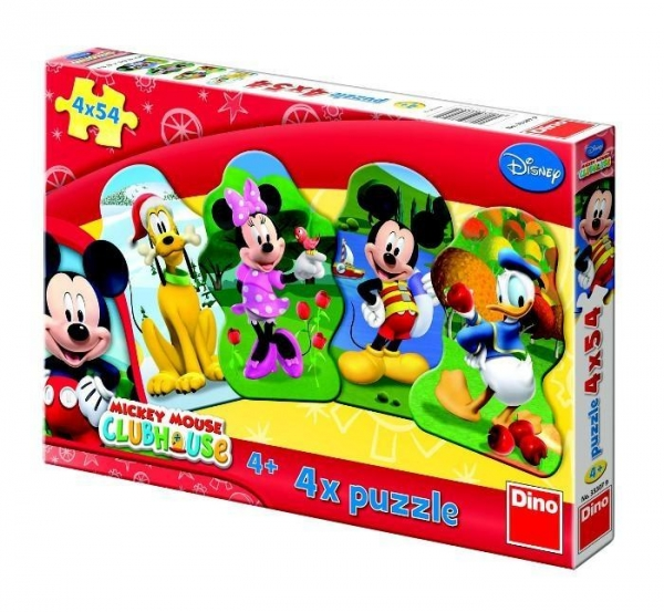Puzzle Dino 4x54 Mickey Mouse (333079)