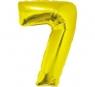 Balon Cyfra NR.7 złoty 81CM