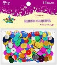 Dodatek dekoracyjny Titanum cekiny mix kolorów 14g