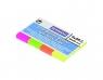 Zakładki indeksujące Donau neon 50x20mm,4kol.x50k. (7576001PL-99)