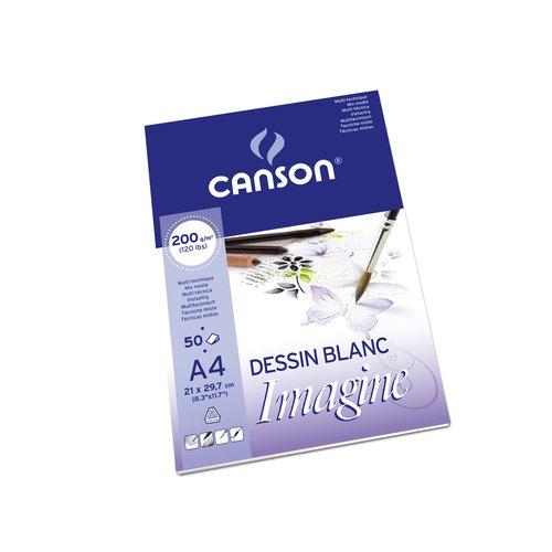Blok Canson Mix-Media Imagine, A4/50k