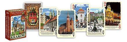 Karty pamiątkowe - Kraków (brązowe)