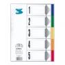 Przekładka kartonowa laminowana A5 5 kolorów (PLA5-5KOLORÓW)