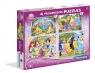 Puzzle Księżniczki 2 4w1 (07708)