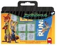 Pieczątki w walizce Zootropolis