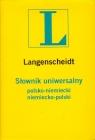 Słownik uniwersalny polsko-niemiecki niemiecko-polski
