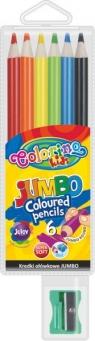 Kredki ołówkowe okrągłe - Jumbo - 6 kolorów (33084PTR)